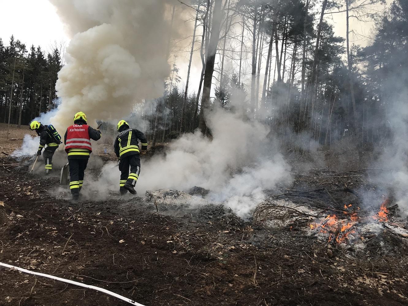 Waldbrand in Schaubing