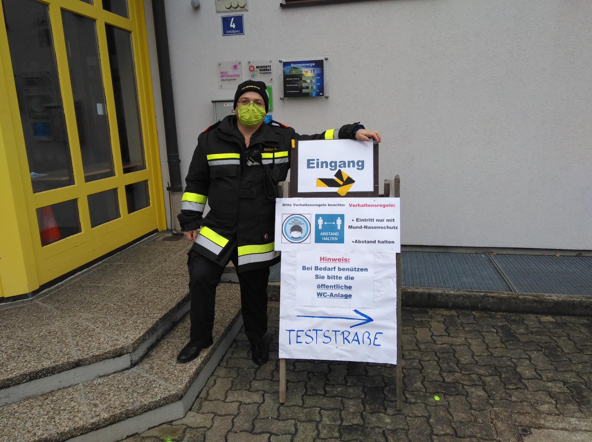 Unterstützung bei den COVID-19-Flächentests in Niederösterreich